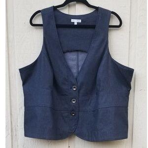 Chambray Vest